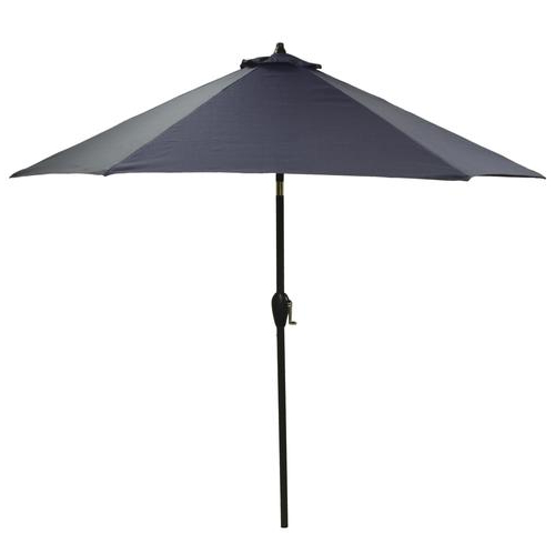 Backyard Creations™ 9' Baltic Solid Patio Market Umbrella At Menards® Inside Famous Solid Market Umbrellas (View 3 of 25)