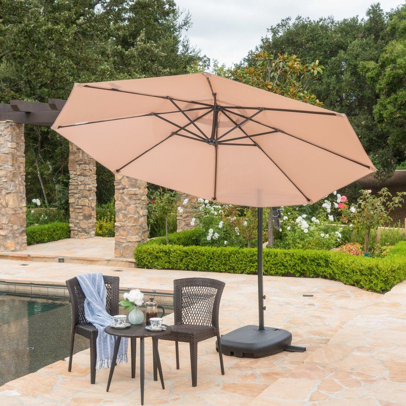 Backyard Pertaining To Jaelynn Cantilever Umbrellas (View 24 of 25)