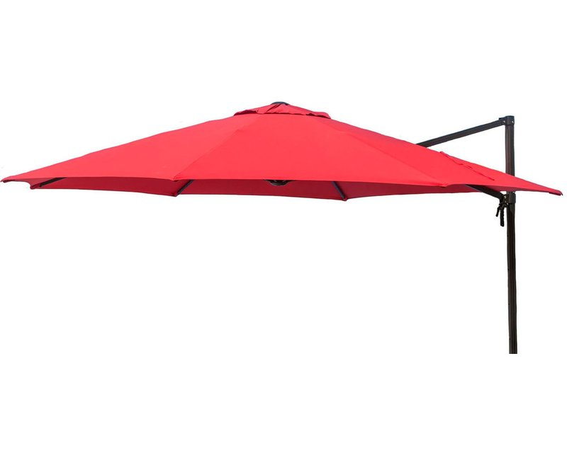 Barris 11' Cantilever Umbrella For Well Known Emely Cantilever Umbrellas (View 23 of 25)