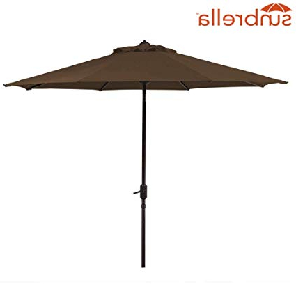 Bayside 21 Patio Umbrella Outdoor Aluminum Table Umbrella Of 9 Feet With 8 Ribs Auto Tilt And Crank Sunbrella Fabric Umbrella Canopy (Sunbrella, With Regard To Recent Bayside Series Cantilever Umbrellas (View 15 of 25)