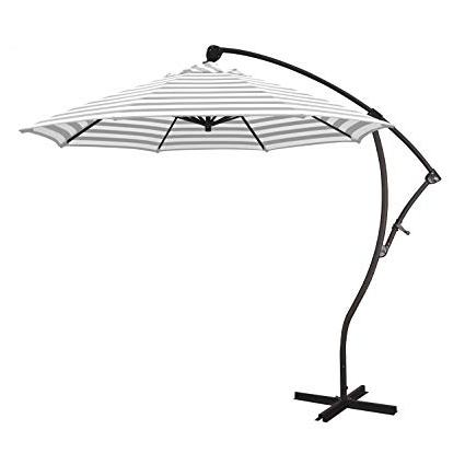 Bayside Series Cantilever Umbrellas In Most Current Amazon : California Umbrella Ba908117 F95 Bayside Series Patio (View 5 of 25)