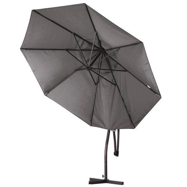"Bayside Series Cantilever Umbrellas Regarding 2018 California Umbrella Ba908 Pacifica Bayside 9' Crank Lift Cantilever Umbrella With 2"" Aluminum Pole – Pacifica Canopy (View 10 of 25)"
