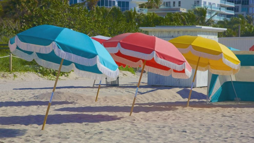 Beach Umbrellas In Most Popular 4 Tips For Keeping Your Beach Umbrella Secure This Summer – Abc News (View 16 of 25)