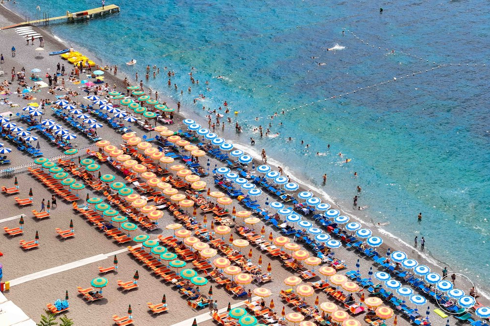 Beach Umbrellas Within Most Popular Italian Beach Umbrellas — Piers Haskard Photography (View 20 of 25)