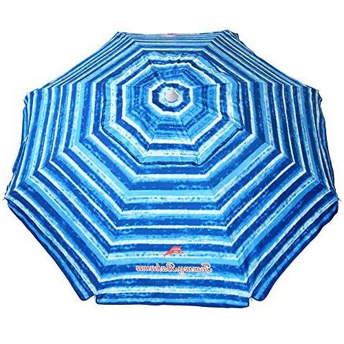 Beachaccessoriesstore Tommy Bahama Sand Anchor Beach Umbrella Spf With Regard To Most Recently Released Schroeder Heavy Duty Beach Umbrellas (View 3 of 25)