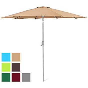 Best And Newest Amazon : Le Papillon 9 Ft Outdoor Patio Umbrella Aluminum Table With Regard To Sittard Market Umbrellas (View 4 of 25)