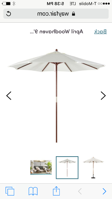 Best And Newest Caleb Market Umbrellas Throughout 9Ft Market Umbrella – White (View 4 of 25)