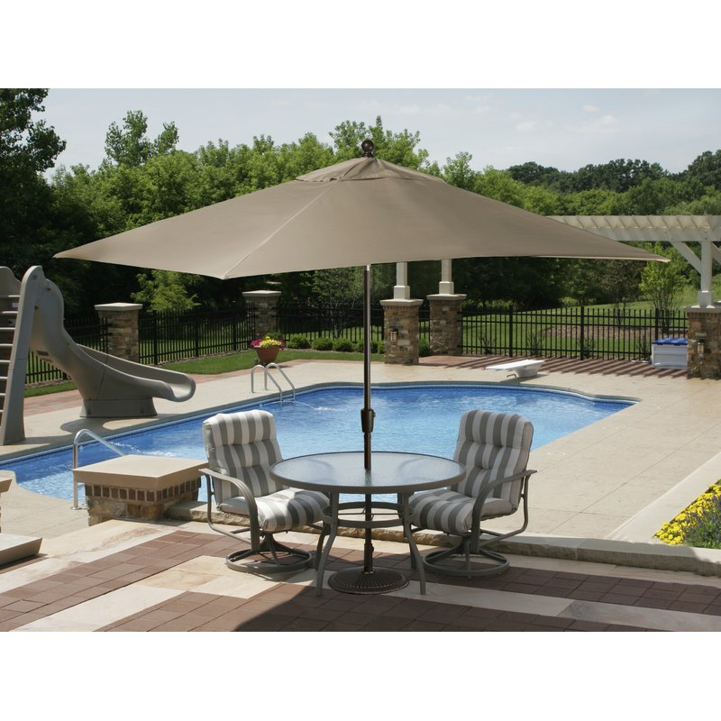 Best And Newest Carlton  Rectangular Market Umbrellas Pertaining To 10' X 8' Rectangular Market Umbrella (View 19 of 25)