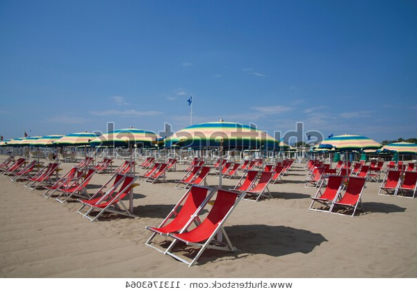 Best And Newest Free Beach Chairs Umbrellas On Italian Stock Photo (Edit Now) 1131763064 With Italian Beach Umbrellas (View 4 of 25)