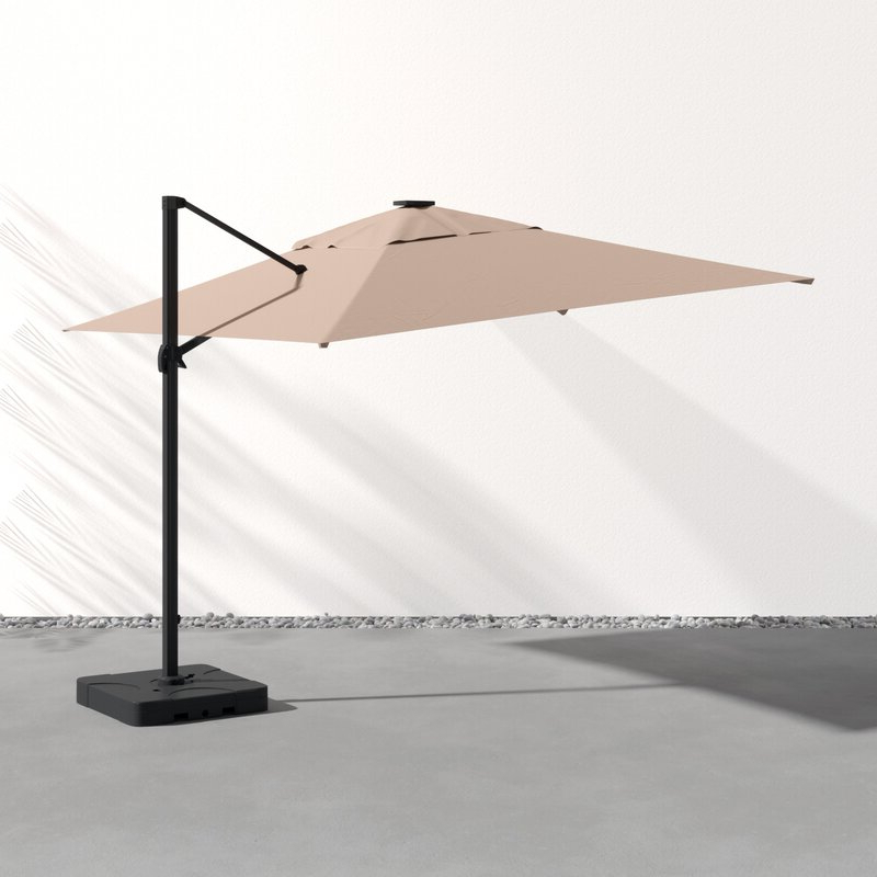 Best And Newest Jendayi Square Cantilever Umbrella Intended For Jendayi Square Cantilever Umbrellas (View 7 of 25)