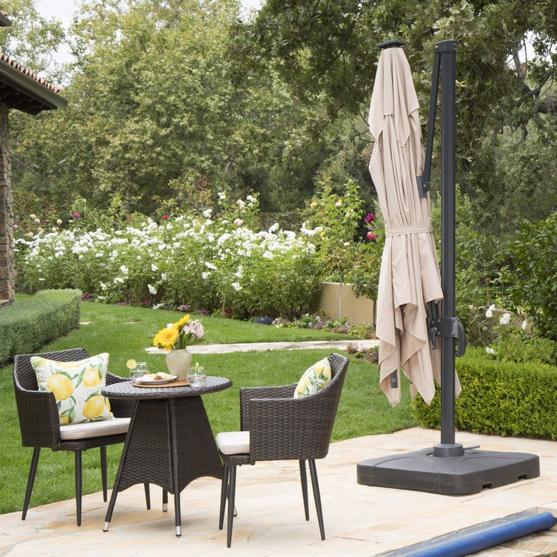 Best And Newest Jendayi Square Cantilever Umbrellas Inside Square Patio Backyard Spring Houzz Reveals The Hottest Outdoor (View 20 of 25)