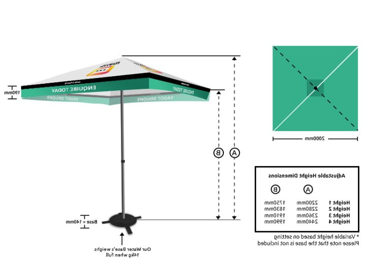 Best And Newest Market Umbrella – Set (Market Umbrellas) With Regard To Eastwood Market Umbrellas (View 10 of 25)