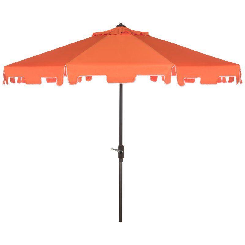 Best And Newest Northfleet Rectangular Market Umbrellas Intended For Safavieh Zimmerman 9 Ft (View 9 of 25)