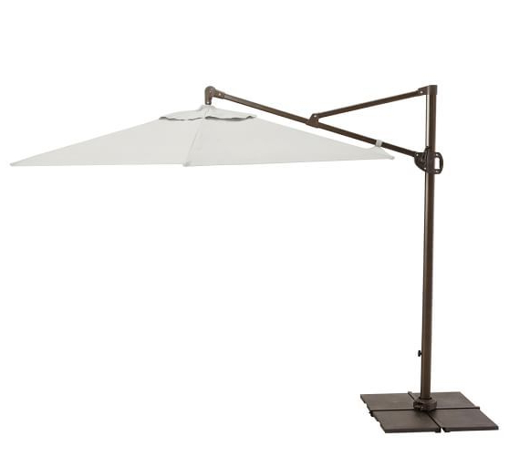 Best And Newest Olen Cantilever Umbrellas In Round Sunbrella® Aluminum Cantilever Umbrella (View 7 of 25)