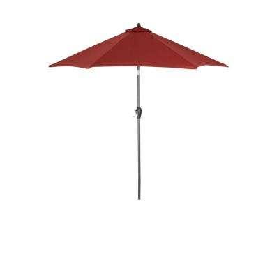 Best and Newest Solid Market Umbrellas for 9 Ft. Aluminum Patio Umbrella In Chili