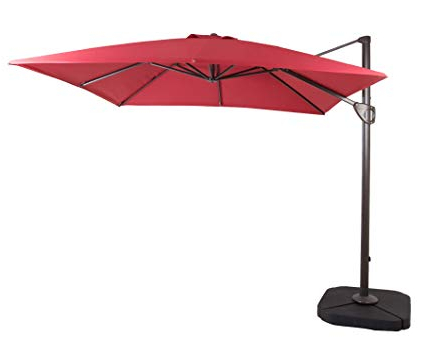 Best And Newest Windell Square Cantilever Umbrellas Intended For Amazon : Domi Outdoor Living 1010 Feet Square Cantilever (View 4 of 25)