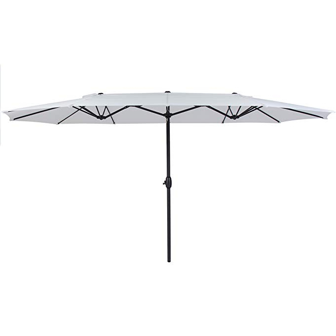 Best Choice Products 15' Outdoor Umbrella Double Sided Aluminum Market  Patio Umbrella With Crank With Recent Eisele Rectangular Market Umbrellas (View 14 of 25)
