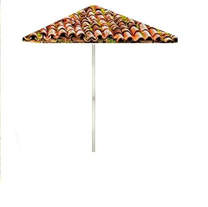 Best Of Times 1020W2404 Italian Villa 8 Ft Tall Square Market Umbrella, One  Size Red for Current Italian Market Umbrellas