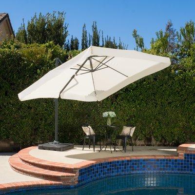 Bondi Square Cantilever Umbrellas regarding Most Up-to-Date Sol 72 Outdoor Bondi 9.8' Square Cantilever Umbrella In 2019