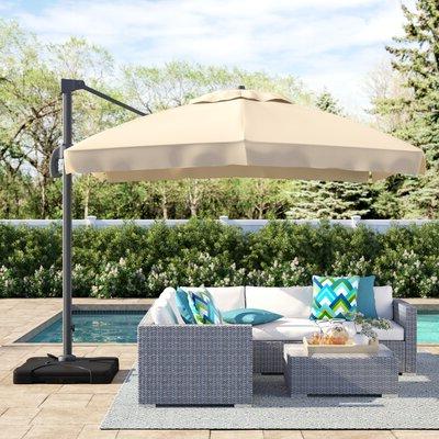 Bondi Square Cantilever Umbrellas throughout Most Up-to-Date Sol 72 Outdoor Bondi 9.8' Square Cantilever Umbrella Fabric Color