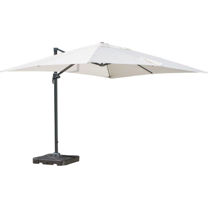 Boracay 10' Square Cantilever Umbrella in Most Current Wardingham Square Cantilever Umbrellas