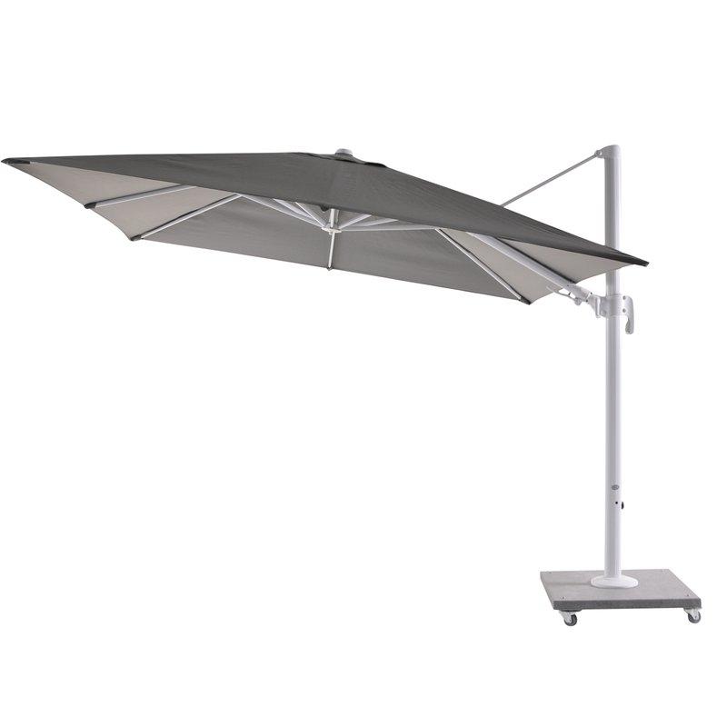 Bozarth 10' Square Cantilever Umbrella regarding Most Recently Released Frederick Square Cantilever Umbrellas