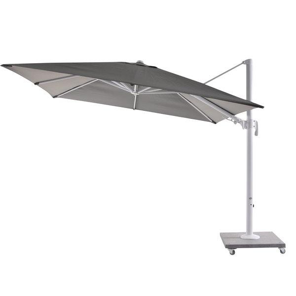 Bozarth 10' Square Cantilever Umbrella Within Most Current Nasiba Square Cantilever Sunbrella Umbrellas (View 3 of 25)