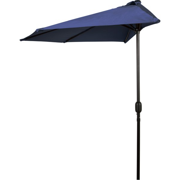 Braham 9' Half Market Umbrella Pertaining To Trendy Monty Half Market Umbrellas (View 3 of 25)