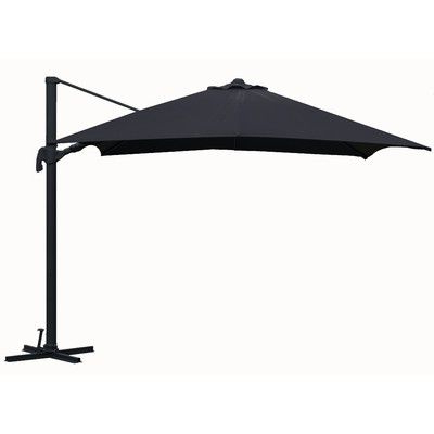 Brayden Studio Grote Liberty Aluminum Square Cantilever Umbrella Intended For Famous Grote Liberty Aluminum Square Cantilever Umbrellas (View 4 of 25)