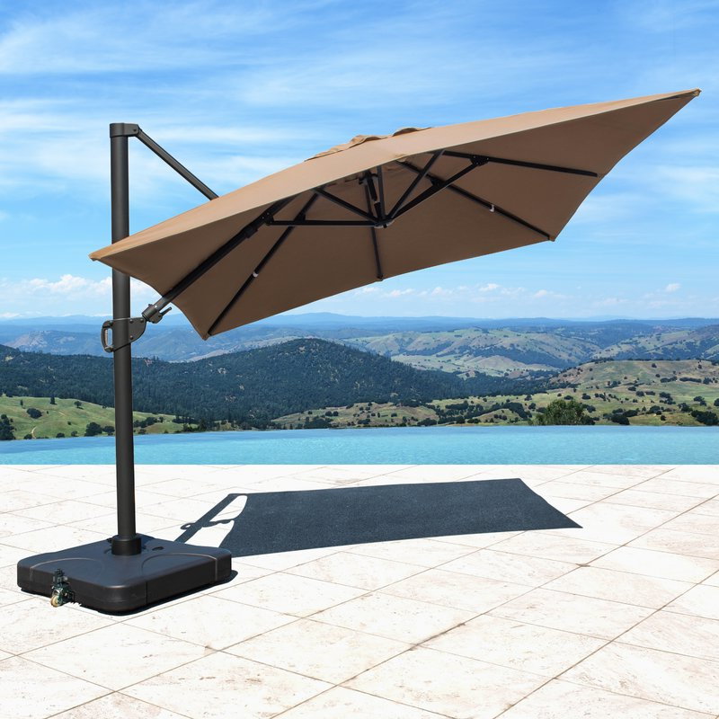 Bridgnorth 10' Rectangular Cantilever Sunbrella Umbrella In Best And Newest Lennie Cantilever Sunbrella Umbrellas (View 16 of 25)