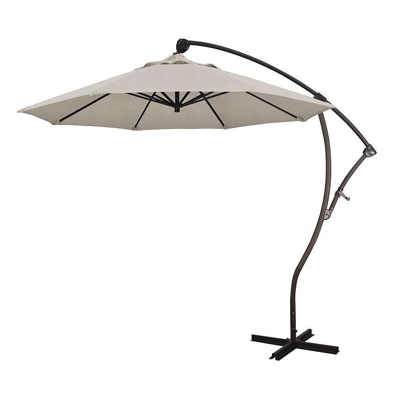 California Umbrella 9' Bayside Series Solid Olefin Cantilever Patio In Trendy Muldoon Market Umbrellas (View 12 of 25)