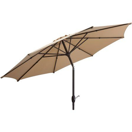 Cannock Market Umbrellas Within Newest Mainstays 9' Outdoor Market Umbrella Multiple Colors, Brown (View 8 of 25)