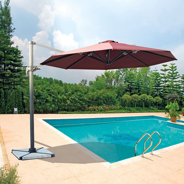 Cantilever Garden Umbrella – Garden Inspiration Within Newest Amaris Cantilever Umbrellas (View 9 of 25)