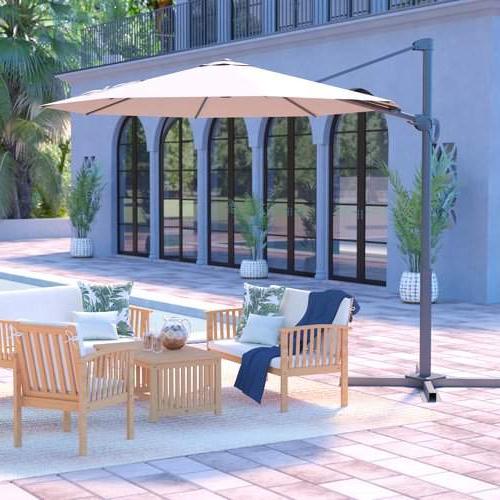 Cantilever Umbrella With Regard To Jaelynn Cantilever Umbrellas (View 7 of 25)