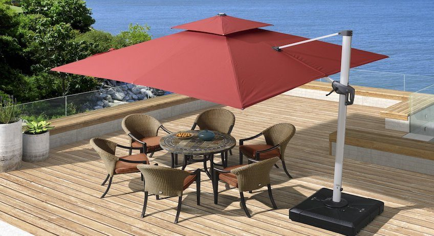 Cantilever Umbrellas Regarding Popular Best Cantilever Umbrella Reviews (View 4 of 25)