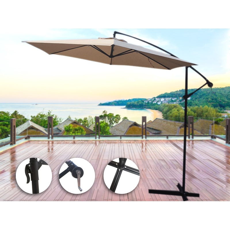 Cantilever Umbrellas With Regard To Well Known 3M Outdoor Cantilever Umbrella Sun Shade Protection Patio Garden (View 21 of 25)