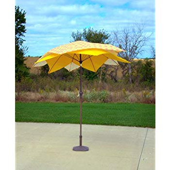 Caravelle Market Umbrellas Regarding Well Known Amazon : Pebble Lane Living Exclusive 3 Tier Patio Umbrella With (View 18 of 25)