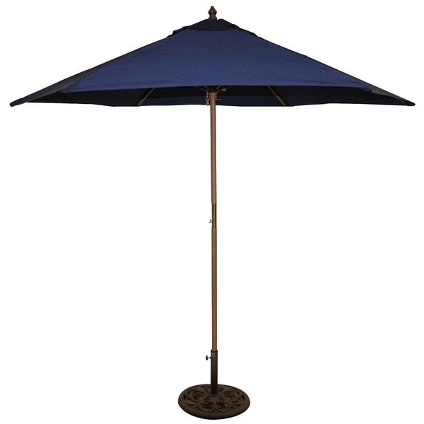 Cardine Market Umbrellas With Well Known Tropishade 9 Foot Blue Umbrella Shade (View 8 of 25)