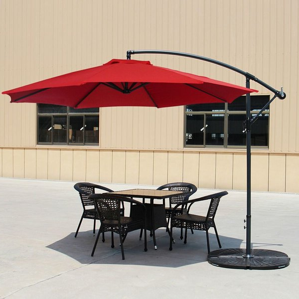 Carillon 10' Cantilever Umbrella In Best And Newest Irven Cantilever Umbrellas (View 7 of 25)