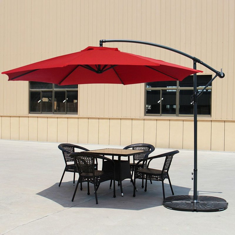 Carillon 10' Cantilever Umbrella Inside Most Up To Date Hilma Solar Cantilever Umbrellas (View 14 of 25)