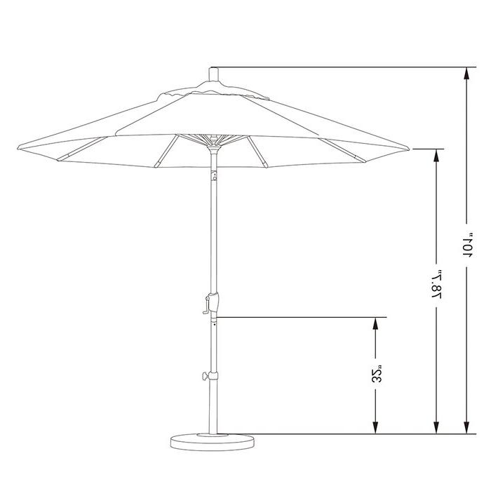 Carina 9' Market Umbrella Regarding Famous Carina Market Umbrellas (View 13 of 25)