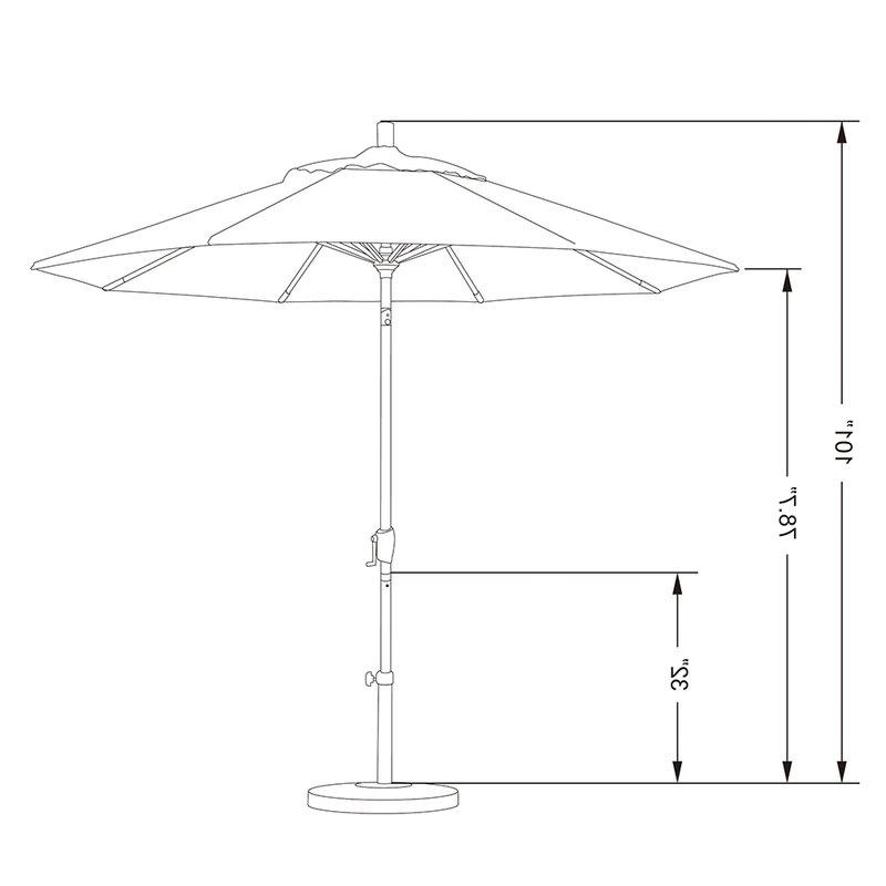 Carina Market Umbrellas Regarding Best And Newest Carina 9' Market Umbrella (View 17 of 25)