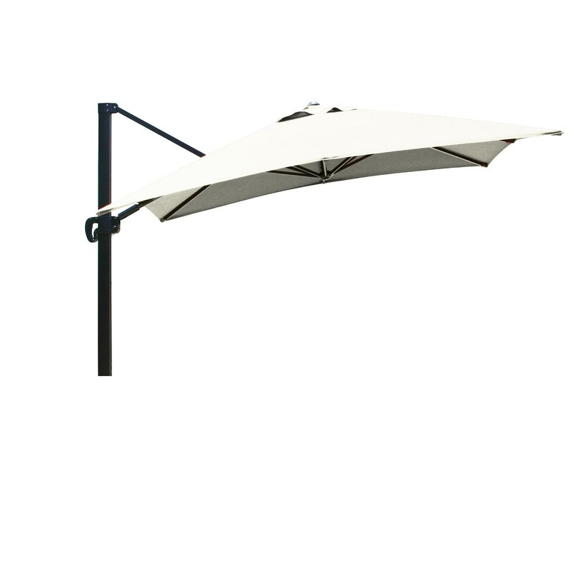 Carlisle 10' Square Cantilever Sunbrella Umbrella Within Well Known Grote Liberty Aluminum Square Cantilever Umbrellas (View 16 of 25)