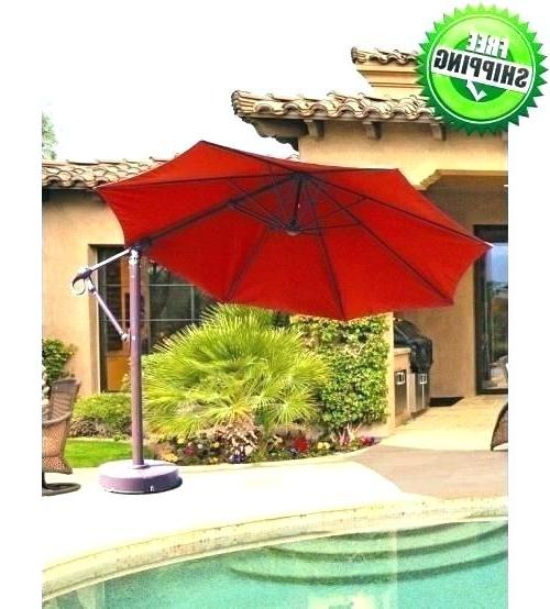 Carlisle Cantilever Sunbrella Umbrellas For Most Recent Sunbrella Cantilever Umbrella (View 25 of 25)