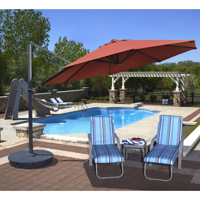 Carlisle Cantilever Sunbrella Umbrellas Intended For Newest Lennie 13' Cantilever Sunbrella Umbrella (View 11 of 25)