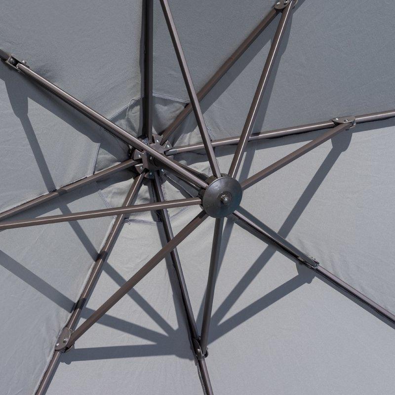 Carlisle Cantilever Sunbrella Umbrellas Throughout 2018 Ceylon 10' Cantilever Sunbrella Umbrella (View 21 of 25)