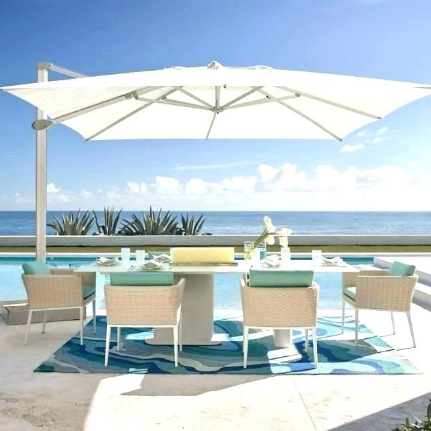 Carlisle Cantilever Sunbrella Umbrellas Within Most Popular Sunbrella Cantilever Umbrella – Victorhazel (View 14 of 25)