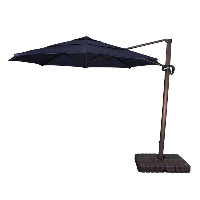 Carlisle Square Cantilever Sunbrella Umbrellas In Most Popular Carlisle 11' Cantilever Sunbrella Umbrella (View 4 of 25)