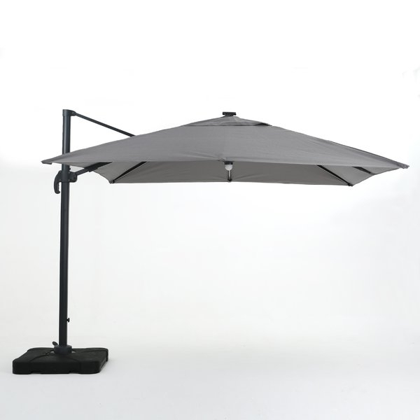Carlisle Square Cantilever Sunbrella Umbrellas Regarding 2018 Jendayi Square Cantilever Umbrella (View 17 of 25)