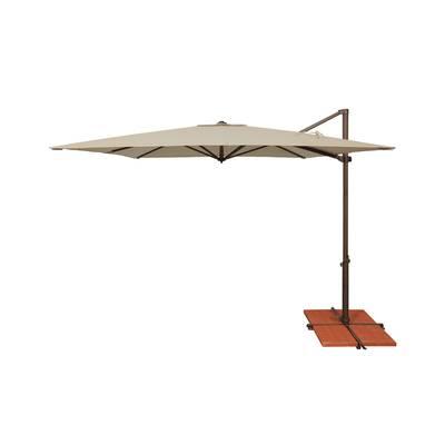 Carlisle Square Cantilever Sunbrella Umbrellas With Regard To 2018 Carlisle 10' Square Cantilever Sunbrella Umbrella & Reviews (View 12 of 25)